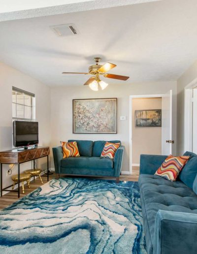 Flat Fish Lodge Living Room