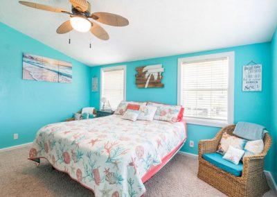 Christal's Castaway - Bedrooms w Ceiling Fans