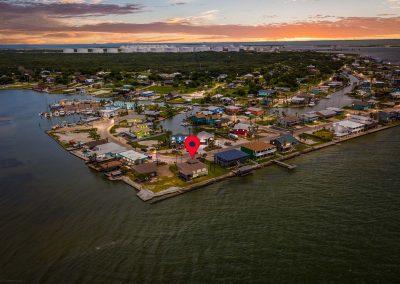 100 Bayshore Drive - Aerial at Sunset