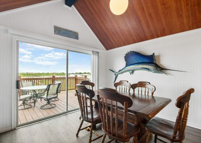 Caney Creek Inlet - Dining w view to deck