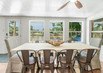 Reel Time - Dining Area w Creek View